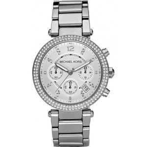 Michael Kors Ladies Silver Chronograph Watch MK